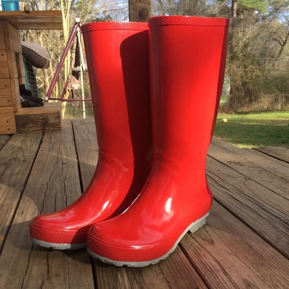 dc07e5830b24eb CROCS Shoes - Crocs Red Tall Women s Rain Boot
